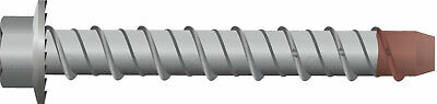 6 x 50mm 100pc Galvanised Screw Bolt Masonry/Concrete Bolt with Hex Head