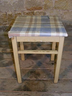 Old Wood Hocker, Folding Stool Vintage Retro Design Iconic Stuhl, Wooden Kitchen