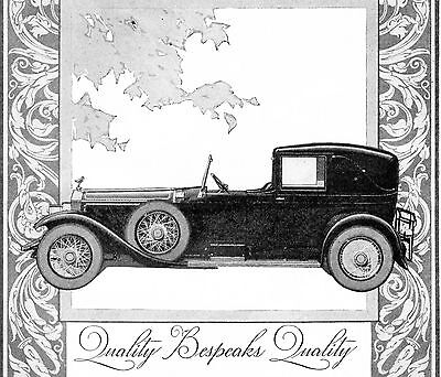 1926 Original Black & Decker Tools AD featuring ROLLS ROYCE LIMOUSINE. Quality