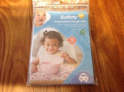 Safety First 10 Disposable Place mats Baby Toddler Feeding Castles Princess Girl