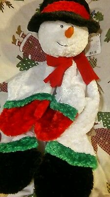 Baby Gund snowman Security Blanket Comfy Cozy Lovey Mat 088305