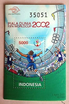 115. indonesia 2002  stamp m/s fifa world cup football . mnh