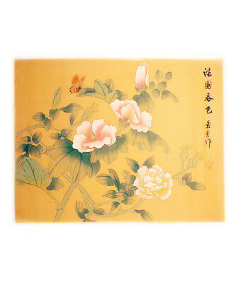 Authentic Traditional Chinese Silk Painting of Butterfly&Flowers-Limited Edition