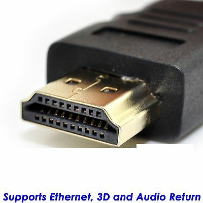 15FT Braided HDMI Cable v1.4 Ultra HD 1080p 3D High Speed with Ethernet ARC BK
