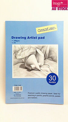 A4 Drawing Artist Pad 100gsm 30 Pages Sketching Pad Pencil TOM-F486