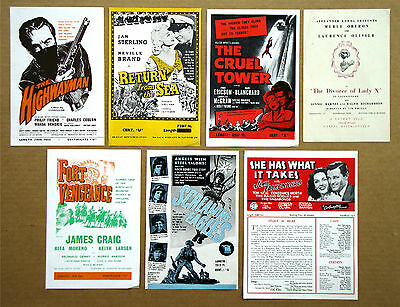 DIVORCE OF LADY X Laurence Olivier SCREAMING EAGLES Tom Tryon LOT 7 PRESS SHEETS