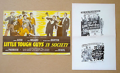 LITTLE TOUGH GUYS IN SOCIETY Bowery Boys MISCHA AUER Mary Boland PRESSBOOK