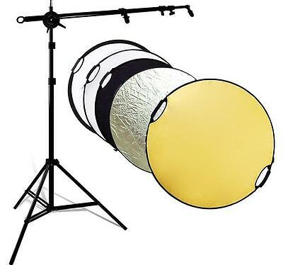 """Handheld 43"""" 110cm 5 in 1 Reflector Photography Studio Multi Disc Collapsible US"""
