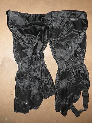 Trek Mates Waterproof Breathable Gaiters : Size L / XL : New : Black