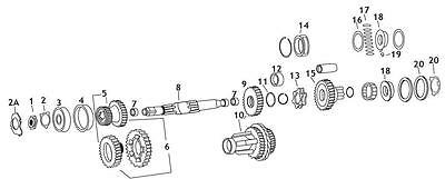 Andrews 205340 Mainshaft Clutch Gear for 4-Speed Big Twin REPL. 35440-38
