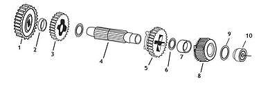 Andrews - 252040 - Countershaft 2nd Gear SPORTSTER 58-90 REP. OEM 35750-58A