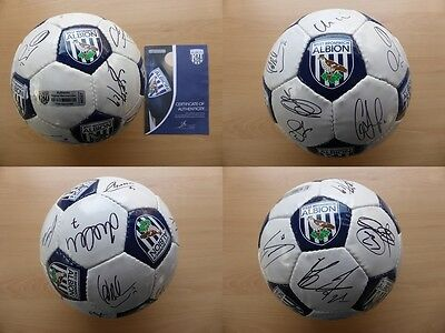 2014-15 West Brom Squad Signed Football - Official COA (10058)