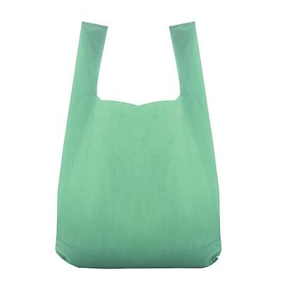 """Recycled Green Vest Style Plastic Carrier Bags 11"""" x 17"""" x 21"""" pack of 100"""