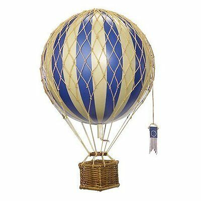 Floating The Skies Hot Air Balloon Replica Color Blue Authentic Models Decor New