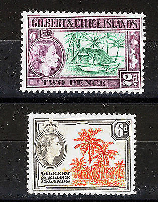 Gilbert & Ellice Islands 1964-65 Definitives Sg85/86 Mnh