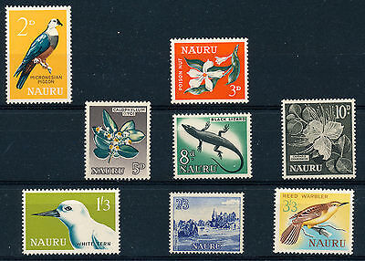 Nauru 1963 Definitives Sg57/64  Mnh