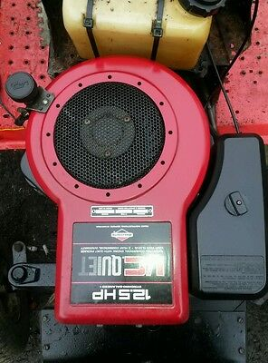 briggs and stratton 12.5hp i/c quiet peteol ride on lawnmower engine