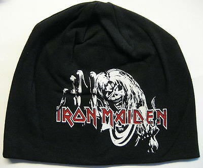 """Iron Maiden Jersey Beanie # 4 / Mütze / Cap """"the Number Of The Beast"""""""