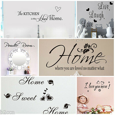 Removable Art Quotes Letters Proverb Vinyl Mural Home Room Decor Wall Stickers