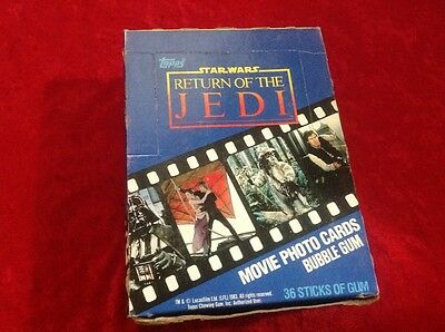 Star Wars Return of The Jedi Unopened Topps Box Wax Pack Cards Complete Topps