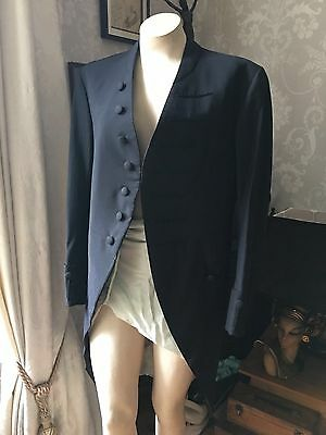 Antique 19c Footman's Livery Jacket Coat Victorian hand stitched Downton