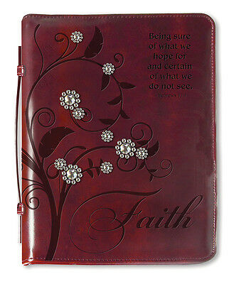 Tree Of Faith, Bible Cover, Burgundy, X-Large