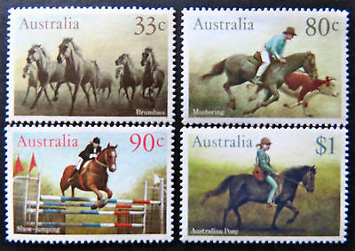 Australian Decimal Stamps:1986 Horses - Set of 4 MNH