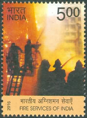 109. india 2016  stamps fire services of india. mnh