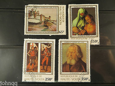 Upper Volta Stamps 481-484, Durer Paintings, NH, SCV $3
