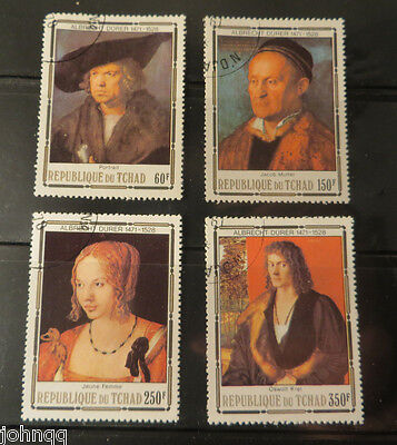 Chad Stamps 354-357, Durer Paintings, NH, SCV $3