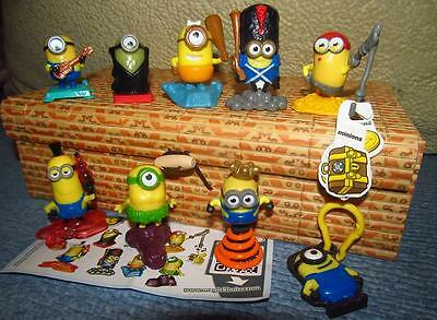 Kinder surprise set: minion 9 mini figures LIMITED Drakula + paper