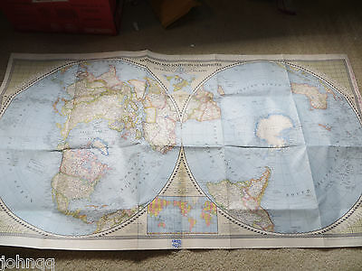 National Geographic Map - Northern and Southern Hemispheres - April 1943