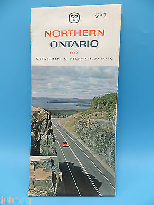 Vintage 1963 Northern Ontario Canada Map - Dept of Highways, Ontario