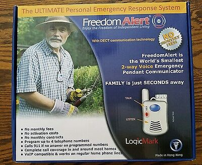 NEW LogicMark FreedomAlert Emergency System 35511 No Activation/Monthly Fees