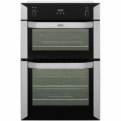 BRAND NEW Belling BI90G 90cm Tall Built-in Double GAS Oven with Electric Grill