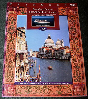 Booklet PRINCESS CRUISES EUROPE 1999 Brochure Timetable Tariffs Ship Deck Plans