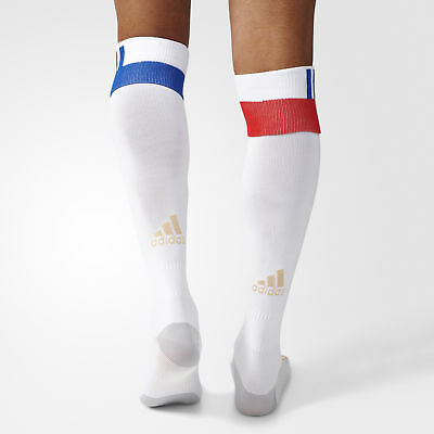 adidas Mens Gents Football Soccer Olympique Lyon Home Socks Season 2016-17