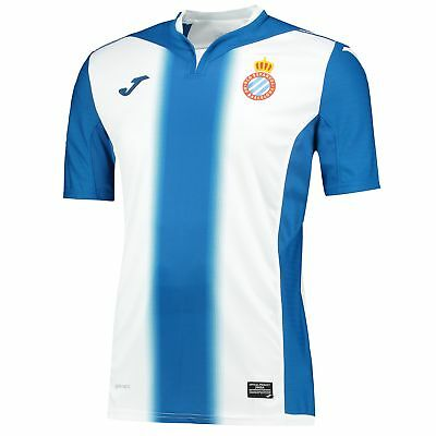 Joma Mens Gents Football Soccer Espanyol Home Shirt Jersey Top 2016-17