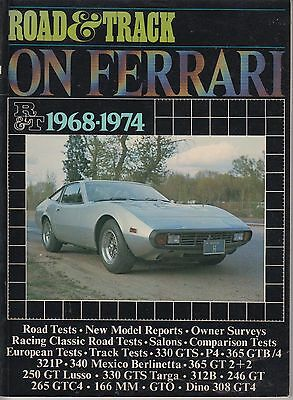 Ferrari 330Gts 365 Gtb/4 312B 250Gt 166Mm 246Gt 308Gt4 Period Road Tests Book