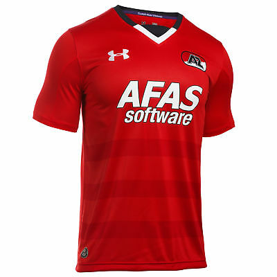 Under Armour Mens Gents Football AZ Alkmaar Home Shirt Jersey 2016-17 - Red