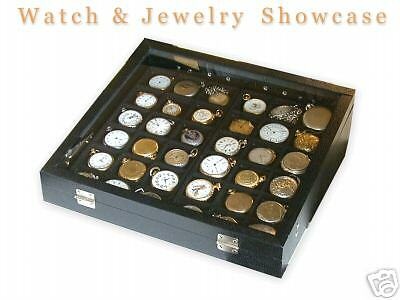 Pocket Watch Display Case Showcase Storage with drawers