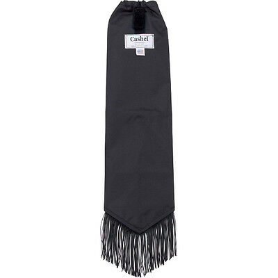 "Cashel Tail Bag with Fringe - Black 22"" Long - stop tail damage"