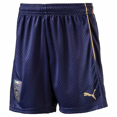 Puma Childrens Kids Football Soccer Italy Tribute 2006 Away Shorts Bottoms Blue