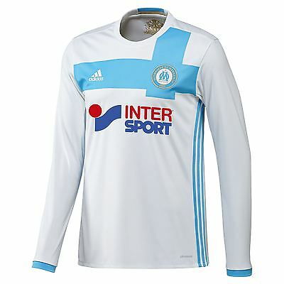adidas Mens Gents Football Olympique de Marseille Long Sleeve Home Shirt 2016-17