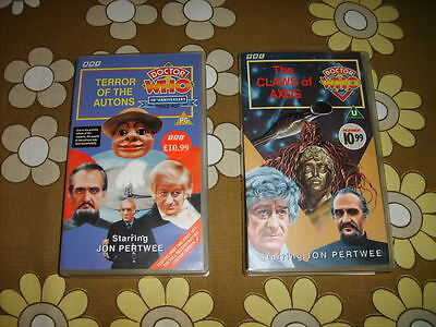 2 Classic Doctor Who Videotapes with Jon Pertwee and The Master from 1971