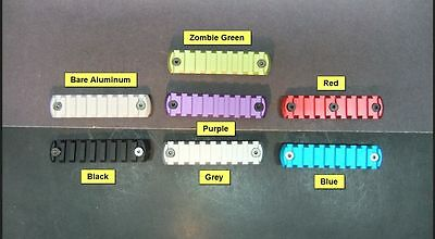 9 Slot Keymod Rail Picatinny Black Red Blue Grey Bare Zombie Green Purple