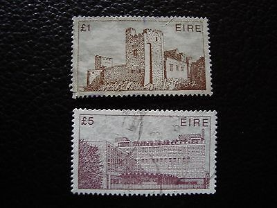 IRLANDE - timbre yvert et tellier n° 491 492 obl (A33) stamp ireland (A)