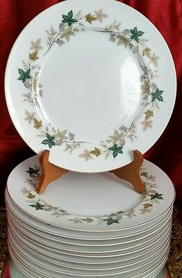 Vintage Meito China MOSELLE Pattern Dinner  Plates  Japan set of 12 Mint