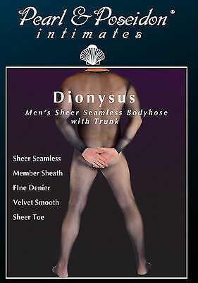 Dionysus - Men's Seamless Sheer Body hose With trunk for male member, Bodyhose,