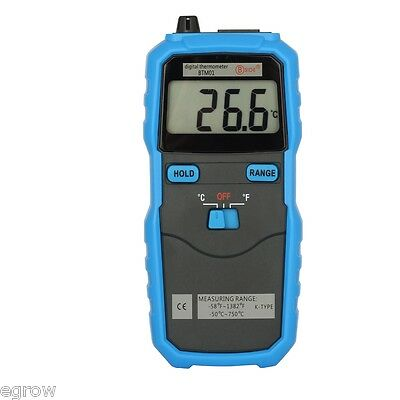 Handhold K-Type Digital Thermocouple Probe Thermometer C/F Switch LCD display